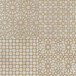 Tesori Monile Bianco Decoro Oro | Ceramic tiles | Cedit by Florim