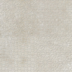 Tesori Monile Bianco Decoro Semplice | Ceramic tiles | Cedit by Florim