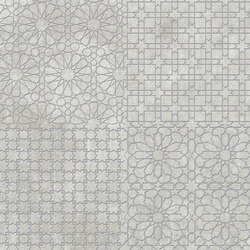 Tesori Monile Grigio Decoro Argento | Ceramic tiles | Cedit by Florim