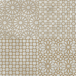 Tesori Monile Grigio Decoro Oro | Ceramic tiles | Cedit by Florim