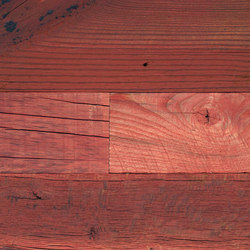 Wirebrushed Red | Wood panels | Architectural Systems