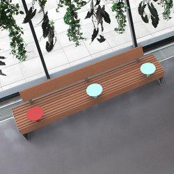 blocq smart | park bench with backrests | Panche da esterno | mmcité