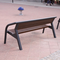 brunea | Park bench with backrest and armrests | Exterior benches | mmcité