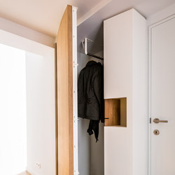 Curve Wood and Steel | Rounded Doors | Cloakroom cabinets | Jo-a