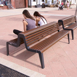 diva | Two-sided park bench with backrest | Panche da esterno | mmcité