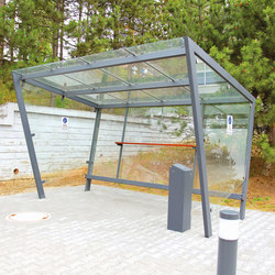 edge | Shelter for smokers with flat roof | Ashtrays / Shelters | mmcité