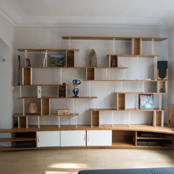 Curve Wood and Steel | Bookshelf | Scaffali | Jo-a