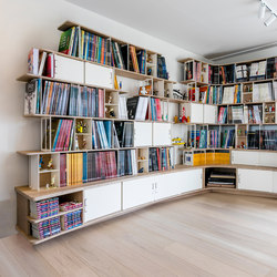 Curve Wood and Steel | Bookshelf | Büroregalsysteme | Jo-a
