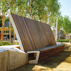 landscape | Park bench with high backrest | Exterior benches | mmcité