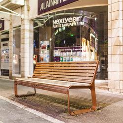 portiqoa | Park bench with backrest | Exterior benches | mmcité