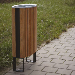 minium | Litter bin with wooden sheating | Cestini spazzatura | mmcité