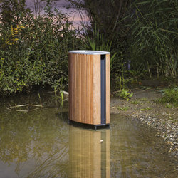 minium | Litter bin with wooden sheating | Exterior bins | mmcité