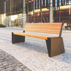radium | Park bench with backrest | Exterior benches | mmcité