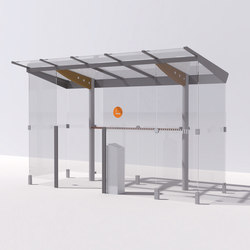 regio | Shelter for smokers with flat roof | Ashtrays / Shelters | mmcité