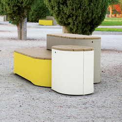 urban islands | Set of three seating units | Exterior benches | mmcité