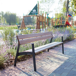 vera | Park bench with backrest and armrests | Exterior chairs | mmcité