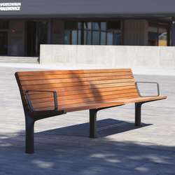 vltau | Park bench with backrest and armrests | Panche | mmcité