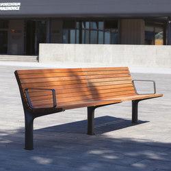 vltau | Park bench with backrest and armrests | Benches | mmcité