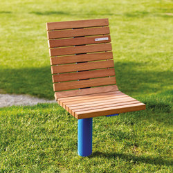 vltau | Park bench with backrest | Exterior benches | mmcité