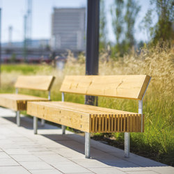 woody | Park bench with backrest | Exterior benches | mmcité