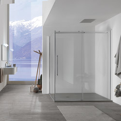 Air Right panel with sliding door   Shower screens   Inda
