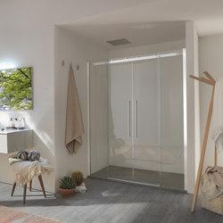 Air  Sliding door with two doors for niche | Shower screens | Inda
