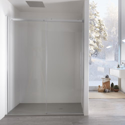 Air Left sliding door for niche | Shower screens | Inda