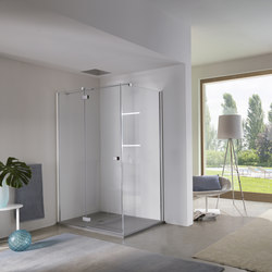 Azure Pivot door with fixed element | Shower screens | Inda