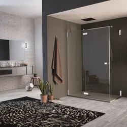 Azure Pivot door with fixed element | Shower screens | Inda