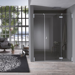 Azure Pivot door with fixed element for niche | Shower screens | Inda