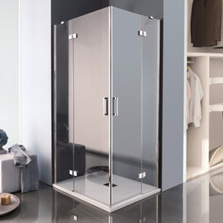 Tilux Pivot door with fixed element | Shower screens | Inda