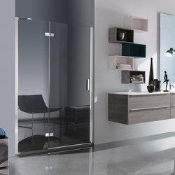 Tilux Pivot door with fixed element for niche | Shower screens | Inda
