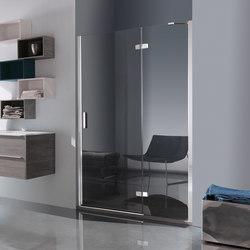 Tilux Porte battante droite et élément fixe pour niche | Pare-douches | Inda