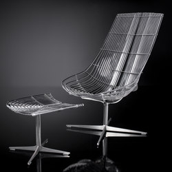 Spline | Lounge Chair with Ottomann | Garden armchairs | Schütz