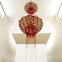 Custom Flower of Life - stacked - suspended | Objetos luminosos | Willowlamp