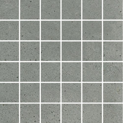 Puntozero | mosaico 5x5 cenere | Bodenfliesen | Cerdisa