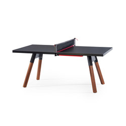 You and Me 180 Ping Pong Table Black | Mesas de comedor de jardín | RS Barcelona