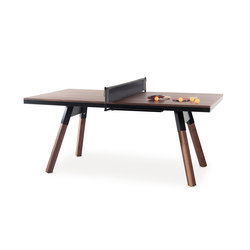 You and Me 180 Ping Pong Table Walnut | Mesas de comedor de jardín | RS Barcelona