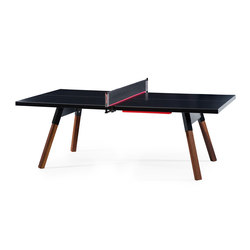 You and Me 220 Ping Pong Table Black | Mesas de comedor de jardín | RS Barcelona