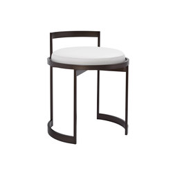 Obi Vanity Swivel Stool | Polsterhocker | Powell & Bonnell