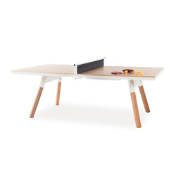 You and Me 220 Ping Pong Table Oak White | Mesas de comedor de jardín | RS Barcelona