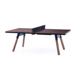 You and Me 220 Ping Pong Table Walnut Black | Tavoli conferenza | RS Barcelona