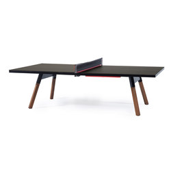 You and Me 274 Standard Ping Pong Table Black | Tables de repas | RS Barcelona