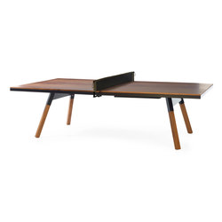 You and Me 274 Standard Ping Pong Table Walnut Black | Tables à manger de jardin | RS Barcelona