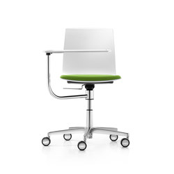 Fiore seminar swivel chair with writing tablet | Sillas de conferencia | Dauphin