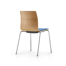 Fiore four-legged model | Restaurant chairs | Dauphin