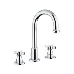 Biarritz | 3 Hole Basin Mixer With Pop-Up Waste | Wash basin taps | BAGNODESIGN