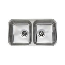 IX304 | Double Integrater Sink | Küchenspülbecken | BAGNODESIGN
