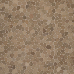 Level Pebble - French Tan Pebble | Natural stone mosaics | Island Stone