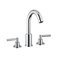 M Line | 3 Hole Basin Mixer With Pop Up Waste | Wash-basin taps | BAGNODESIGN